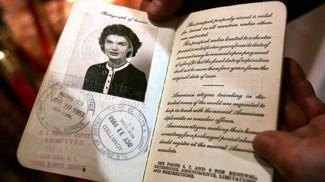Jackie Kennedy, pasaporte