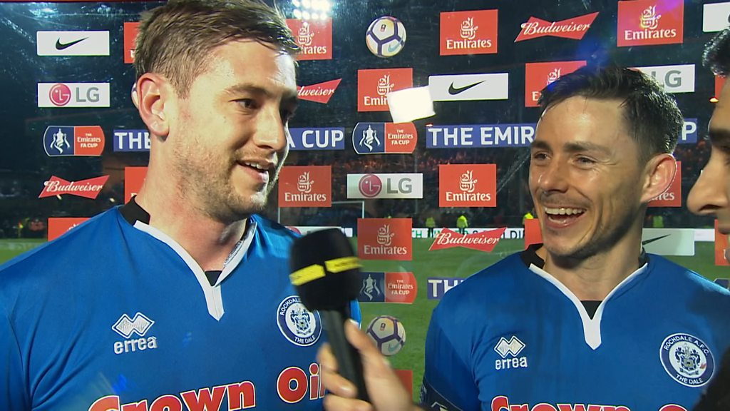 FA Cup: Rochdale heroes Ian Henderson & Steve Davies revel in earning Spurs Wembley replay