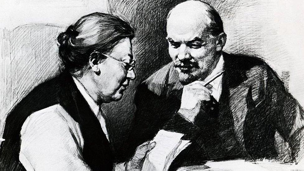Lenin vivía en Zúrich con su esposa, Nadya Krupskaya.