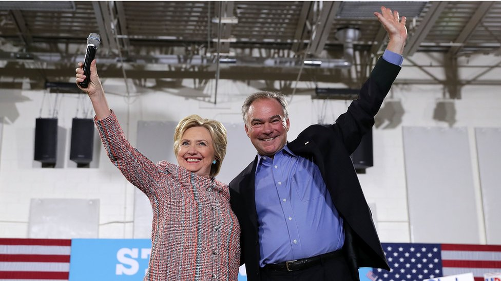 Who is Clinton running mate Tim Kaine?