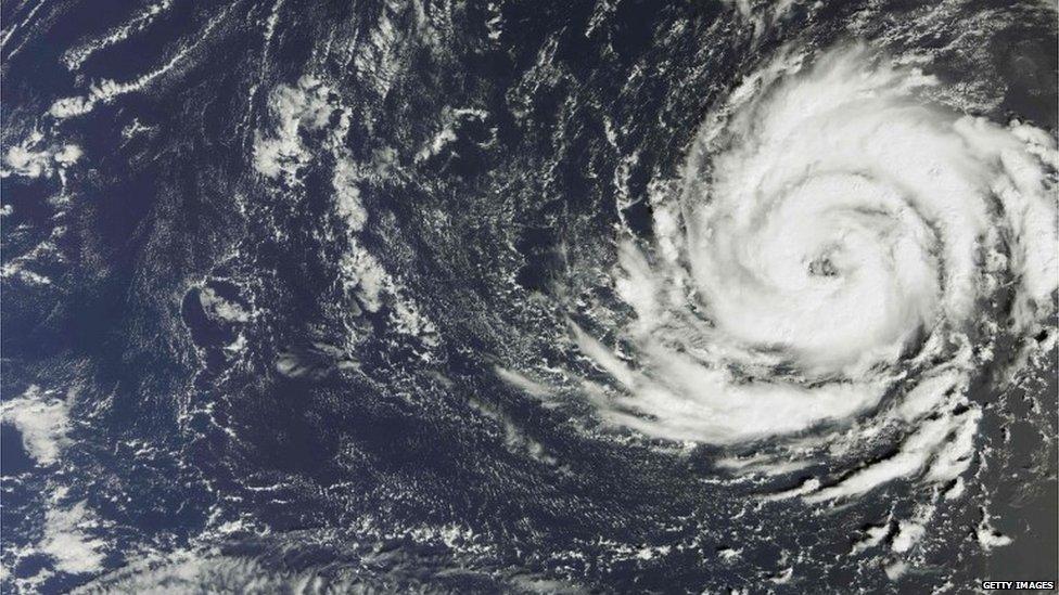 صورة بالقمر الصناعي لإعصار أوفيليا