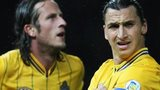 Jonas Olsson and Zlatan Ibrahimovic