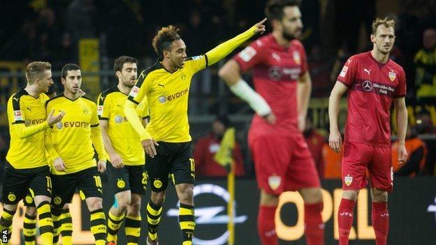ไฮไลท์  Borussia Dortmund 4 - 1 VfB Stuttgart