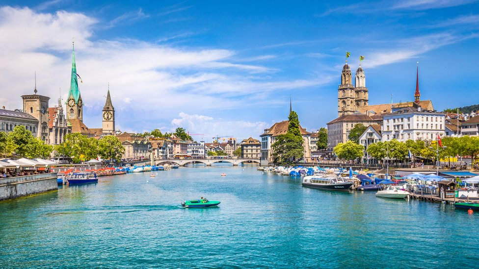 Zúrich, en Suiza, ocupa el primer lugar del 'ranking'.