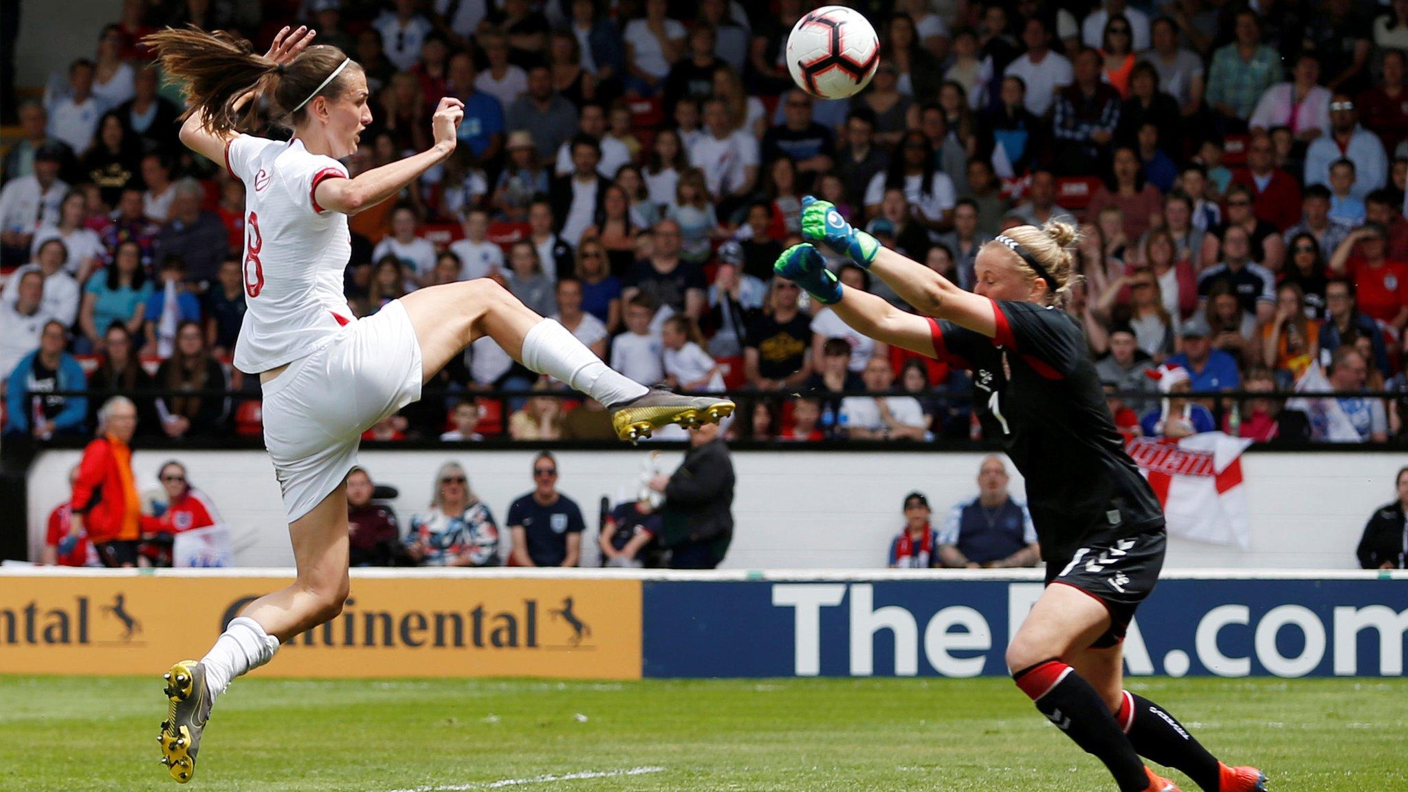 Phil Neville: England women's win over Denmark 'messy'