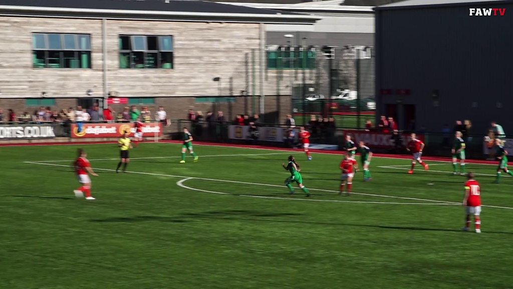 Fishlock scores stunning half-volley in 100th Wales game
