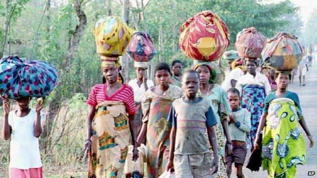 Refugees from Burundi's civil war