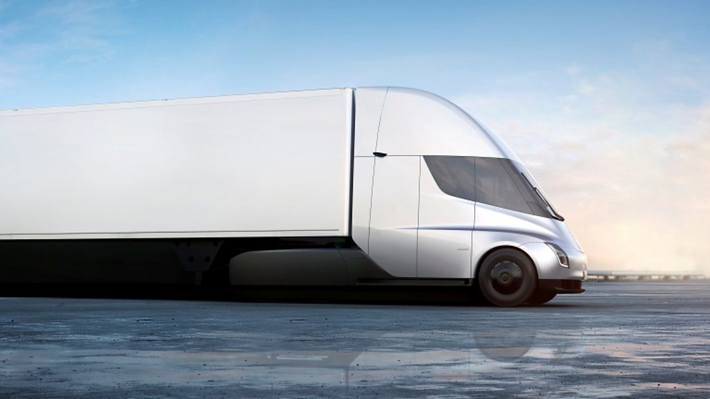 Tesla shows off new truck and surprise Roadster