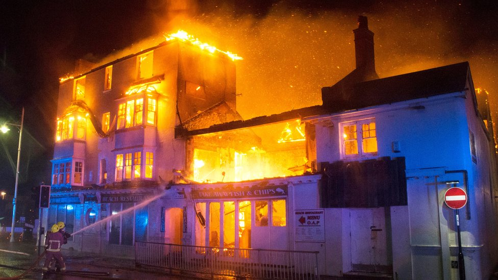 Bognor seafront restaurant blaze tackled amid Storm Angus