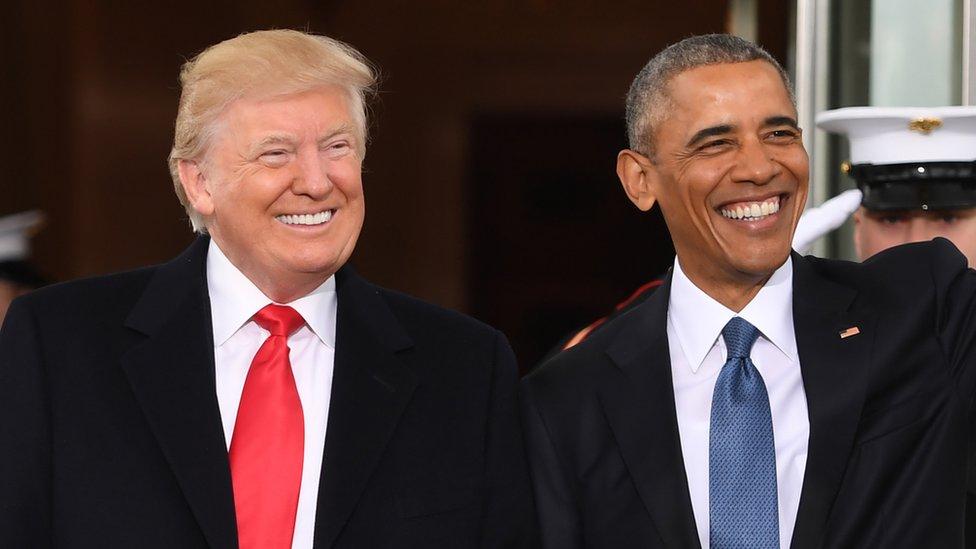 دونالد ترامب وباراك أوباما