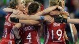 England celebrate Alex Danson's opening goal