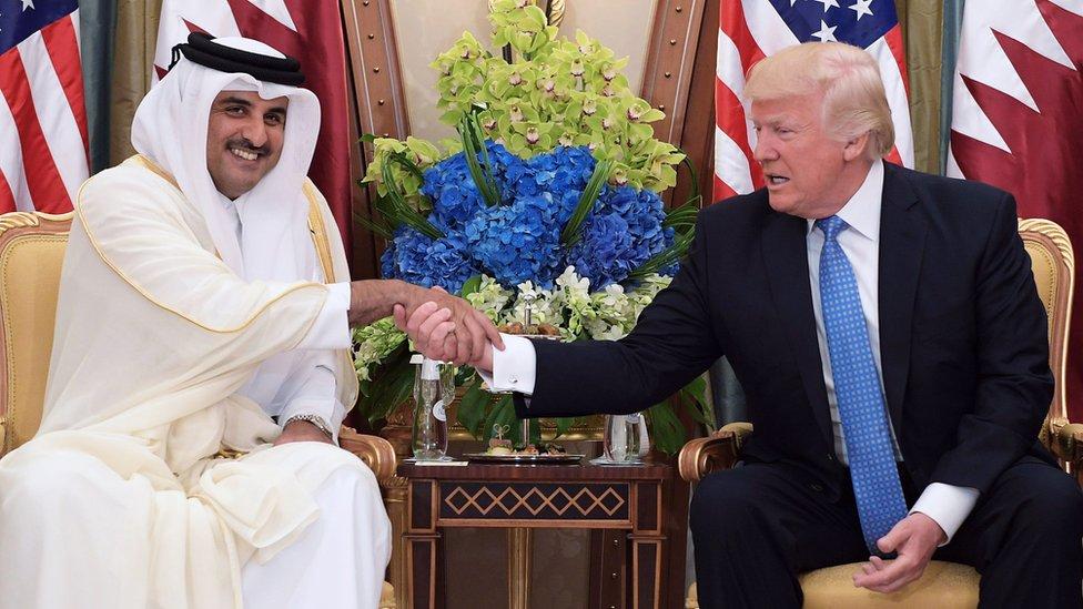 الرئيس الأمريكي وأمير قطر