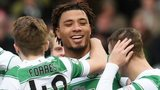 Celtic celebrate Colin Kazim-Richards' goal