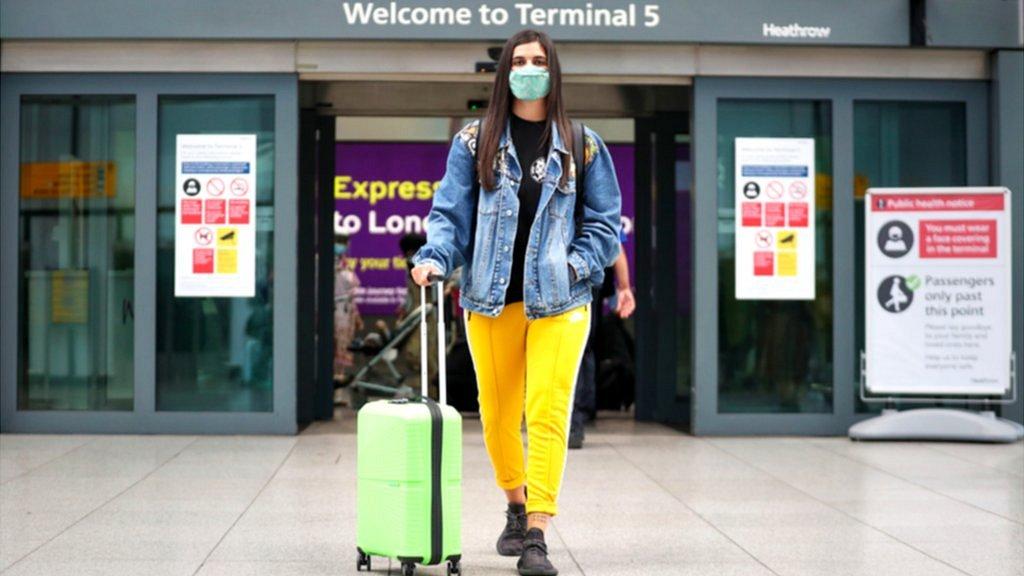 Woman at UK airport