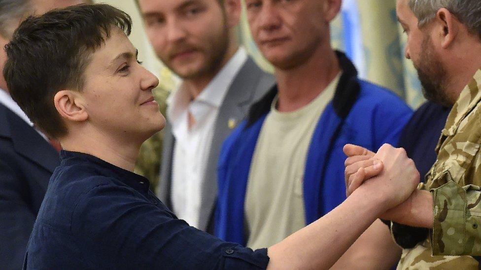 Savchenko greeted