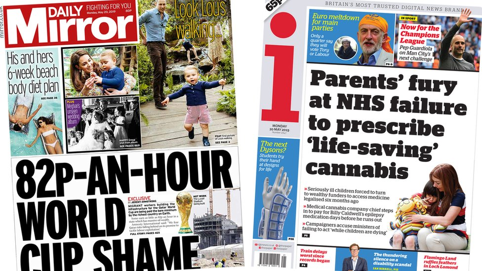 Paper review: World Cup 'shame' and Prince Louis walks