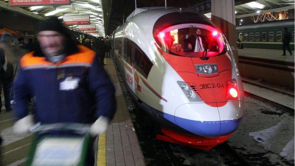 BBC News - Russian bullet train whirrs past bleak lives