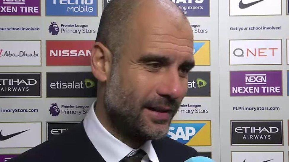 Man City 0-0 Man Utd: Pep Guardiola 'satisfied' with derby draw