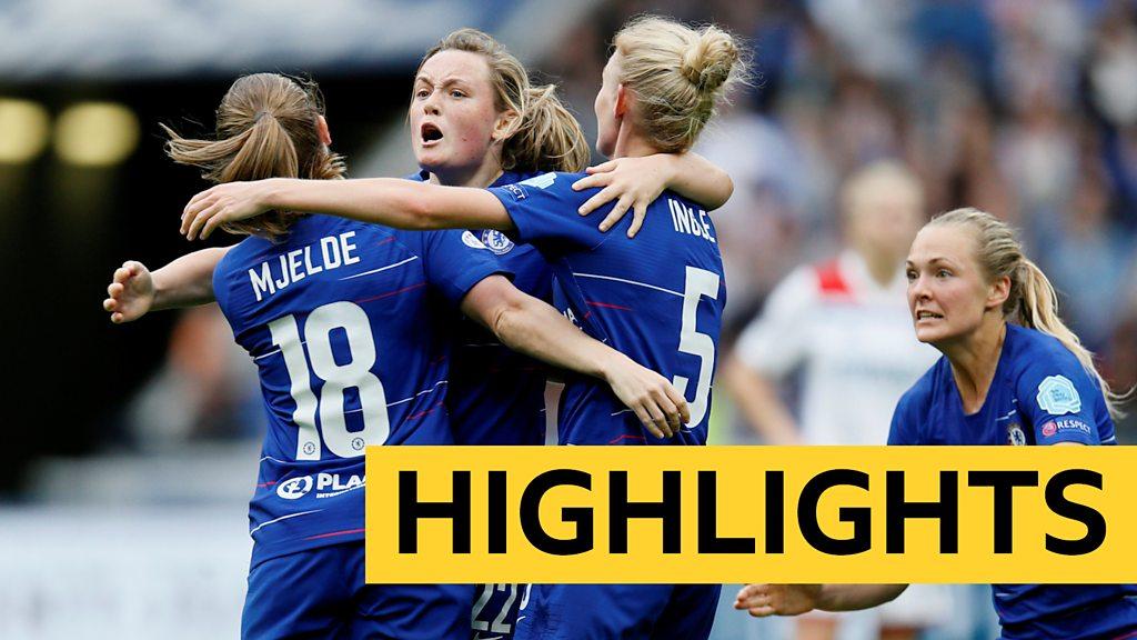 Women's Champions League highlights: Lyon Feminines 2-1 Chelsea Women