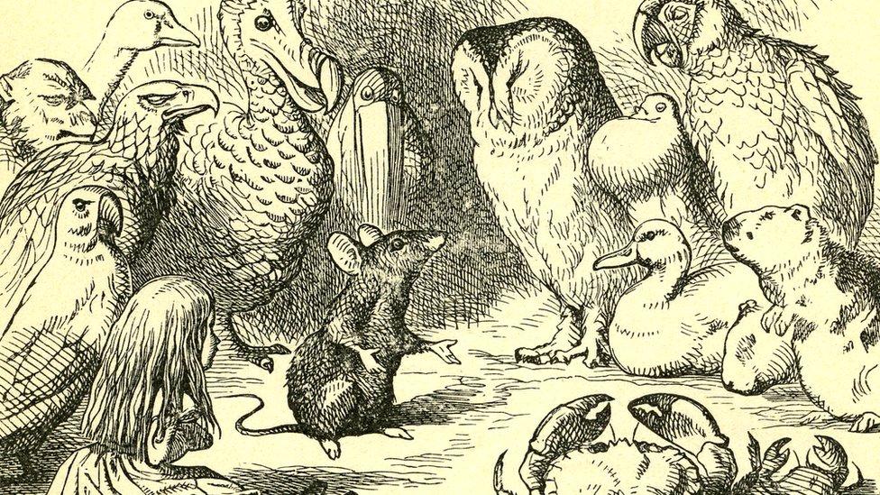 Escena en el cuento en el que la rata cuenta un cuento seco.