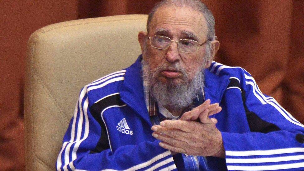 Fidel Castro fez um rara aparição no congresso do Partido Comunista de Cuba's Communist Party congress