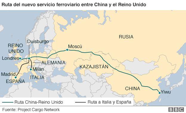 La ruta China-Madrid lleva funcionando más de un año y es el servicio ferroviario más largo del mundo.