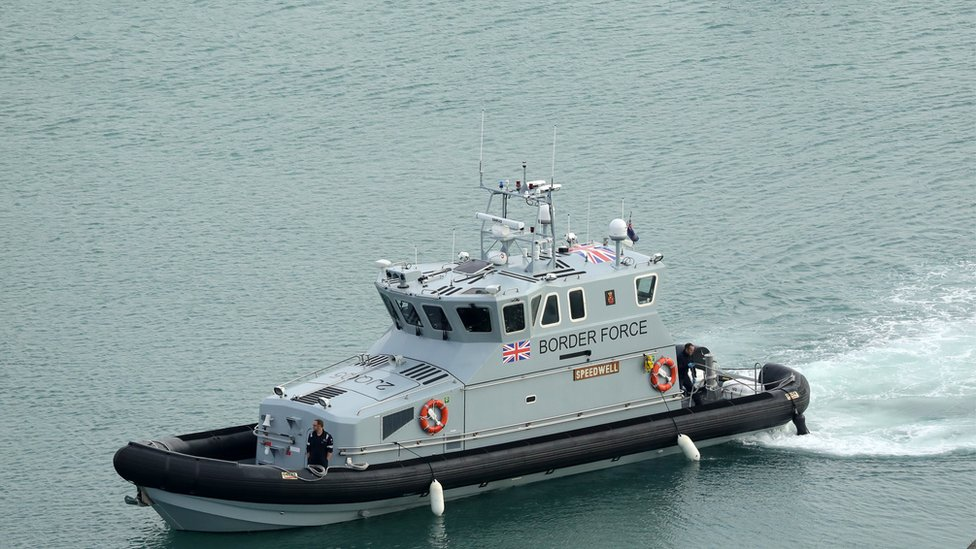 Migrants intercepted in the Channel near Dover