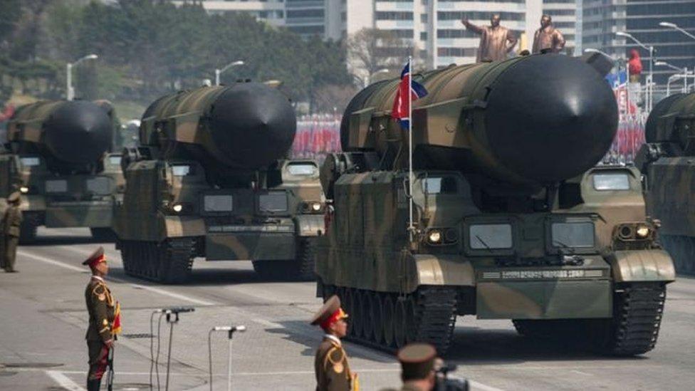 عرض عسكري كوري شمالي