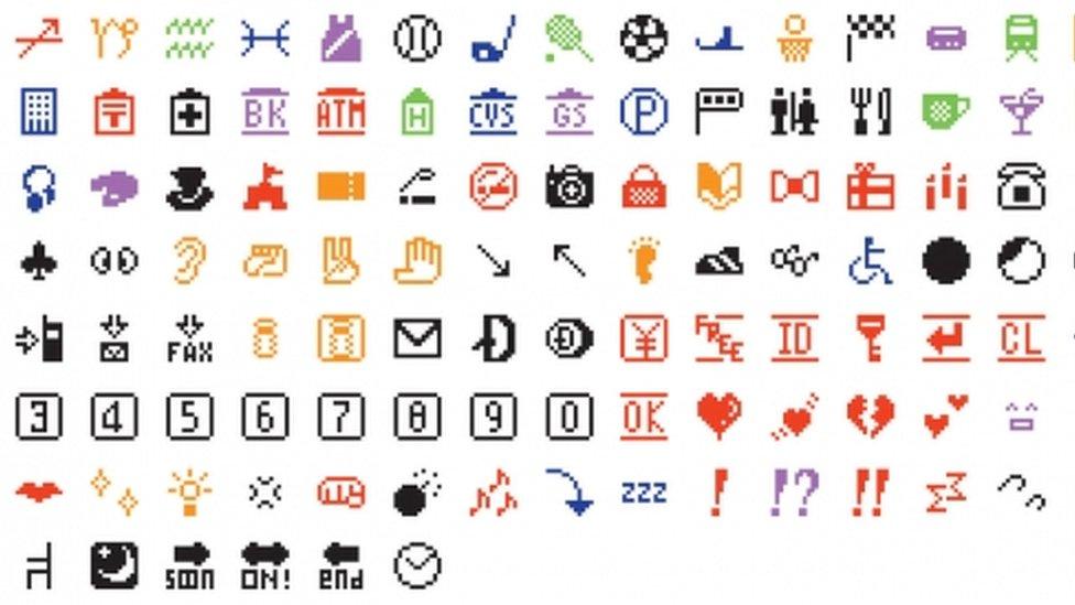 emojis originales diseñados por el japonés Shigetaka Kurita