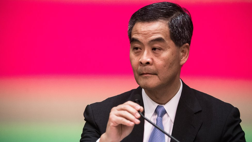 Hong Kong's chief executive Leung Chun-ying