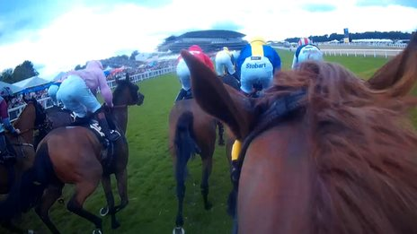 Frankie Dettori's view from the in saddle at Ascot
