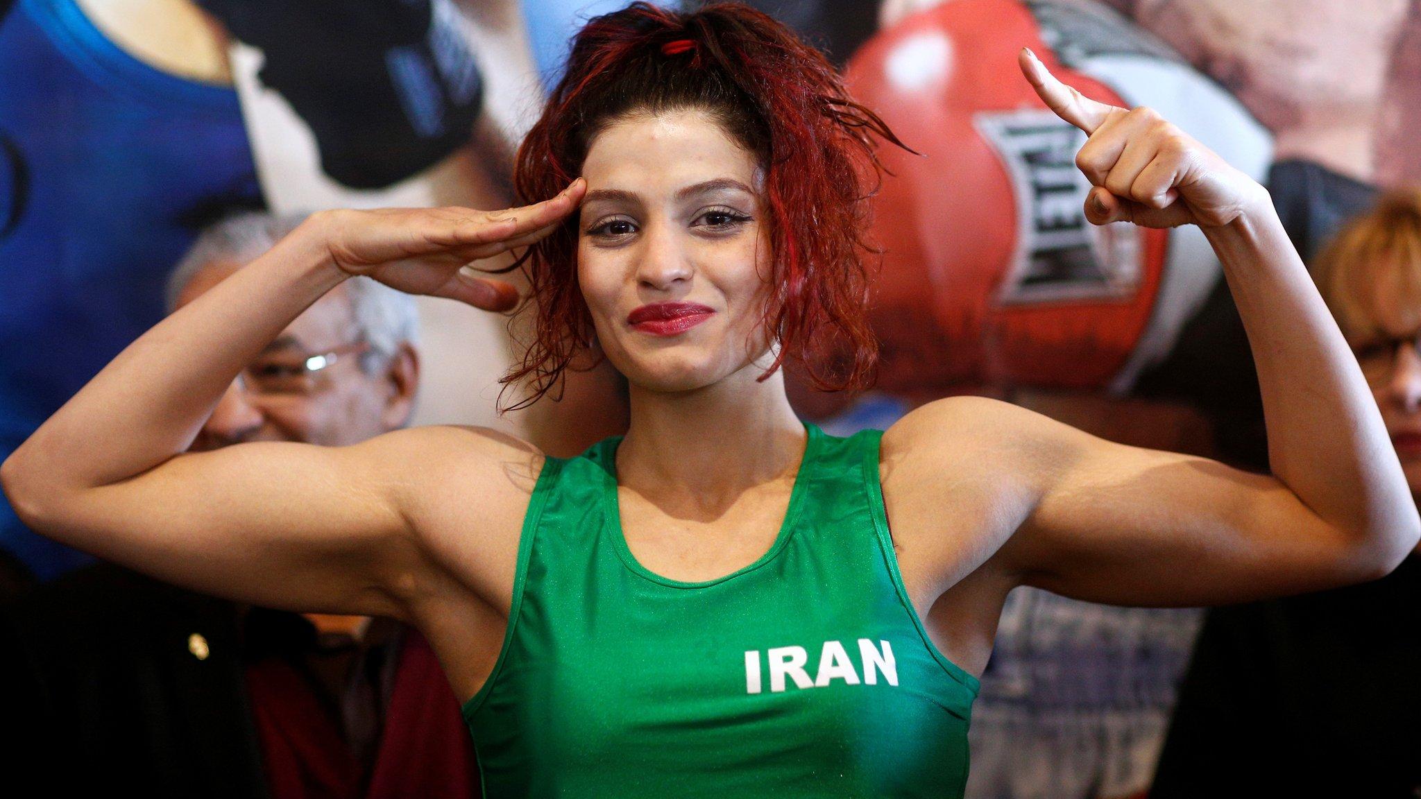 Sadaf Khadem: Iranian female boxer halts return over arrest fears