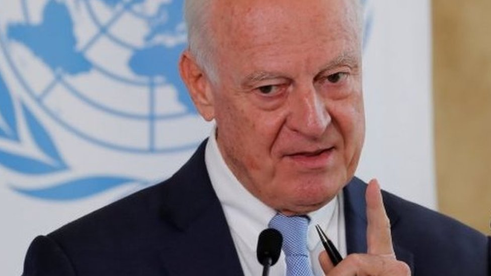 Syria war: UN envoy Staffan de Mistura to step down