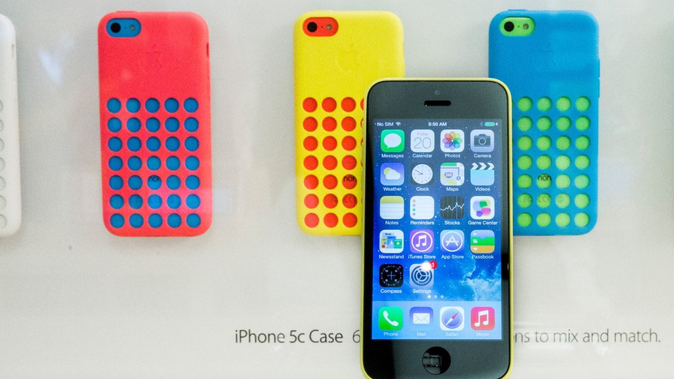 Diferentes versiones del iPhone 5C