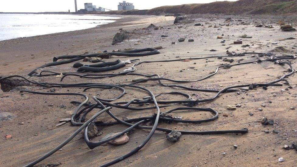 Erosion reveals tonnes of Lynemouth Beach waste