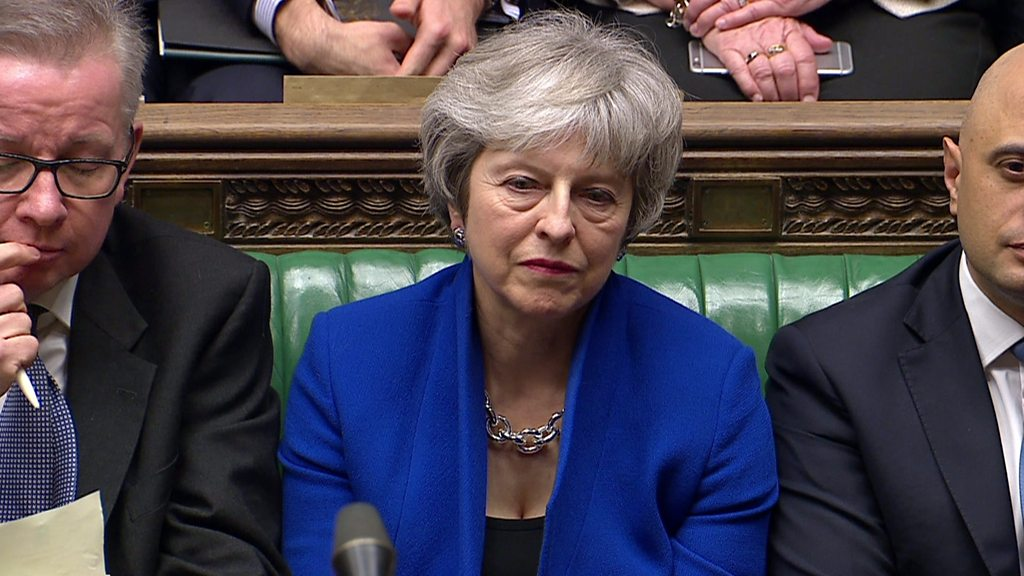 Moment the government survives confidence vote