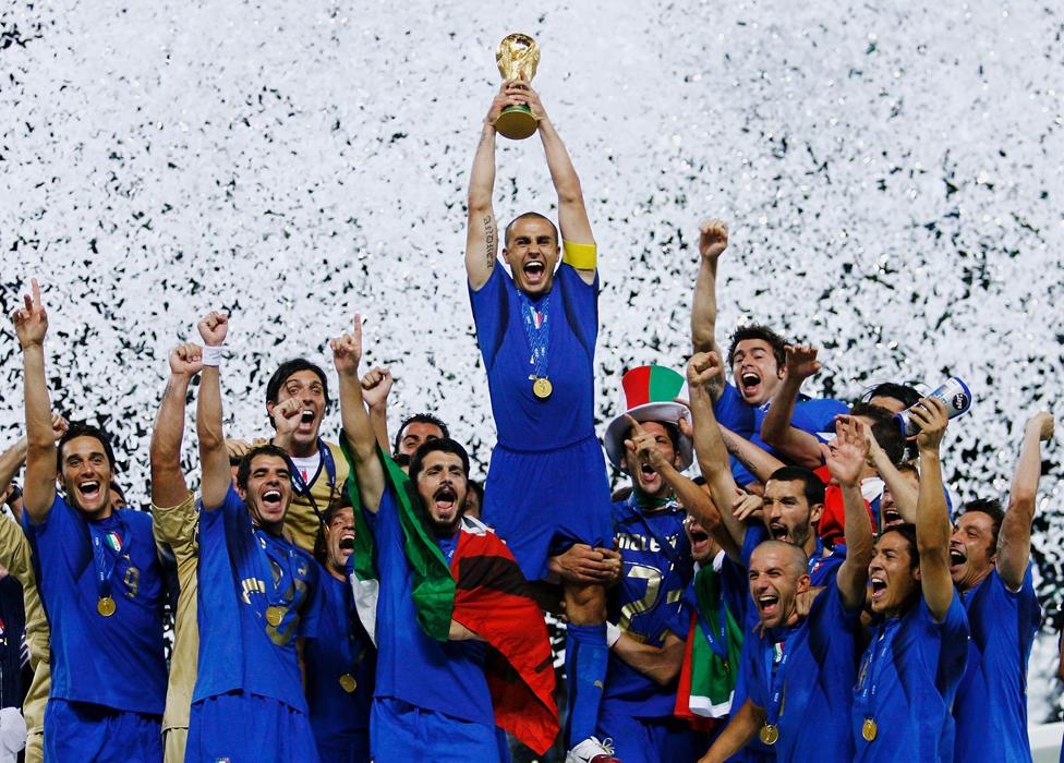 Italia ha ganado cuatro mundiales, el último en 2006.