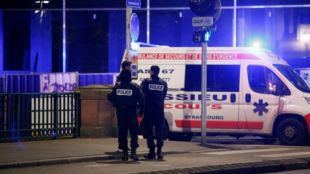 Strasbourg shooting: Gunman at large after two killed and 11 injured