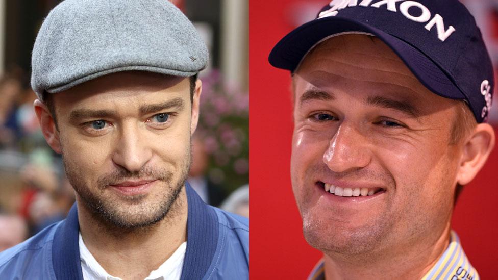 Pop fans mistake golfer for Timberlake