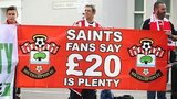 Southampton fans protest against ticket prices