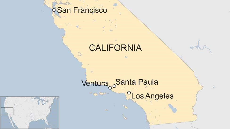 Mapa de las ciudades afectadas por los incendios.