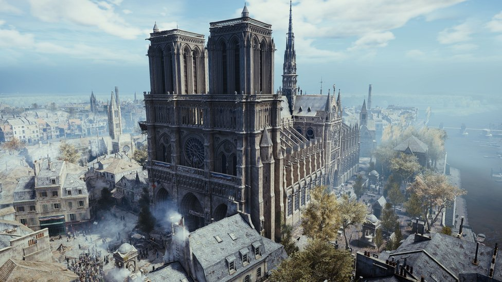 Notre-Dame fire: Assassin's Creed's maker pledges aid