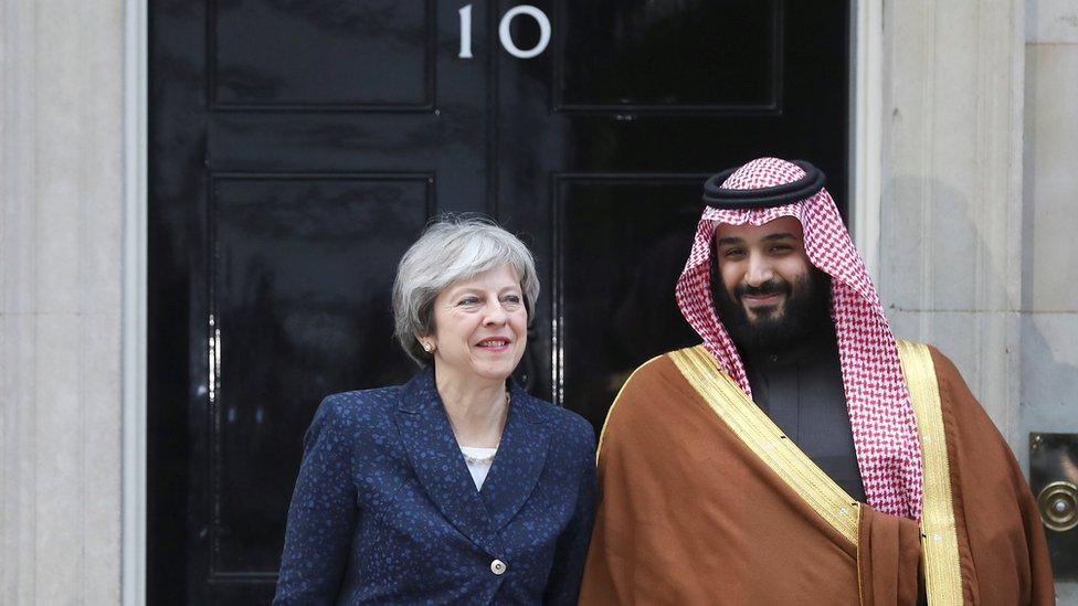 تريزا ماي تستقبل ولي العهد السعودي في داونينغ ستريت