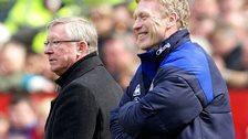 David Moyes (right) and Sir Alex Ferguson