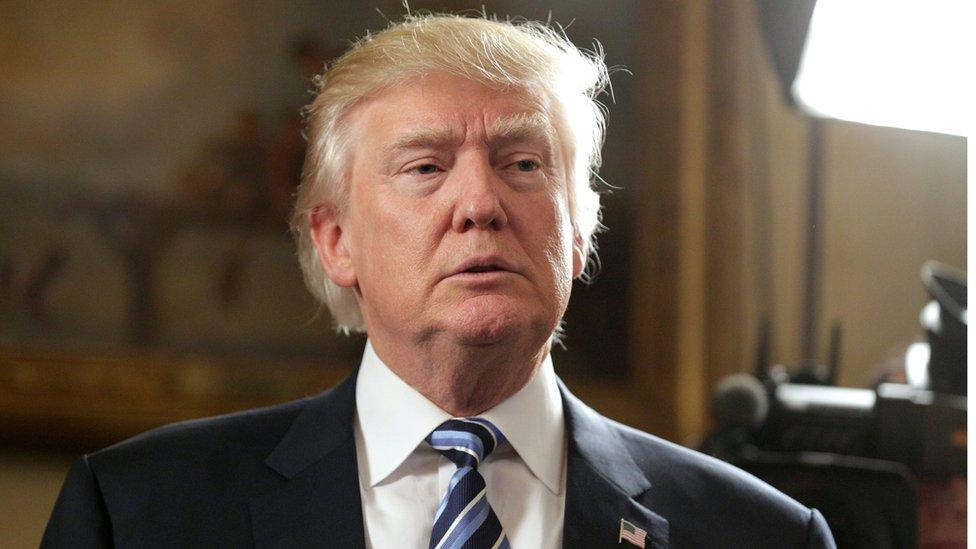 الرئيس الأمريكي الجديد دونالد ترامب