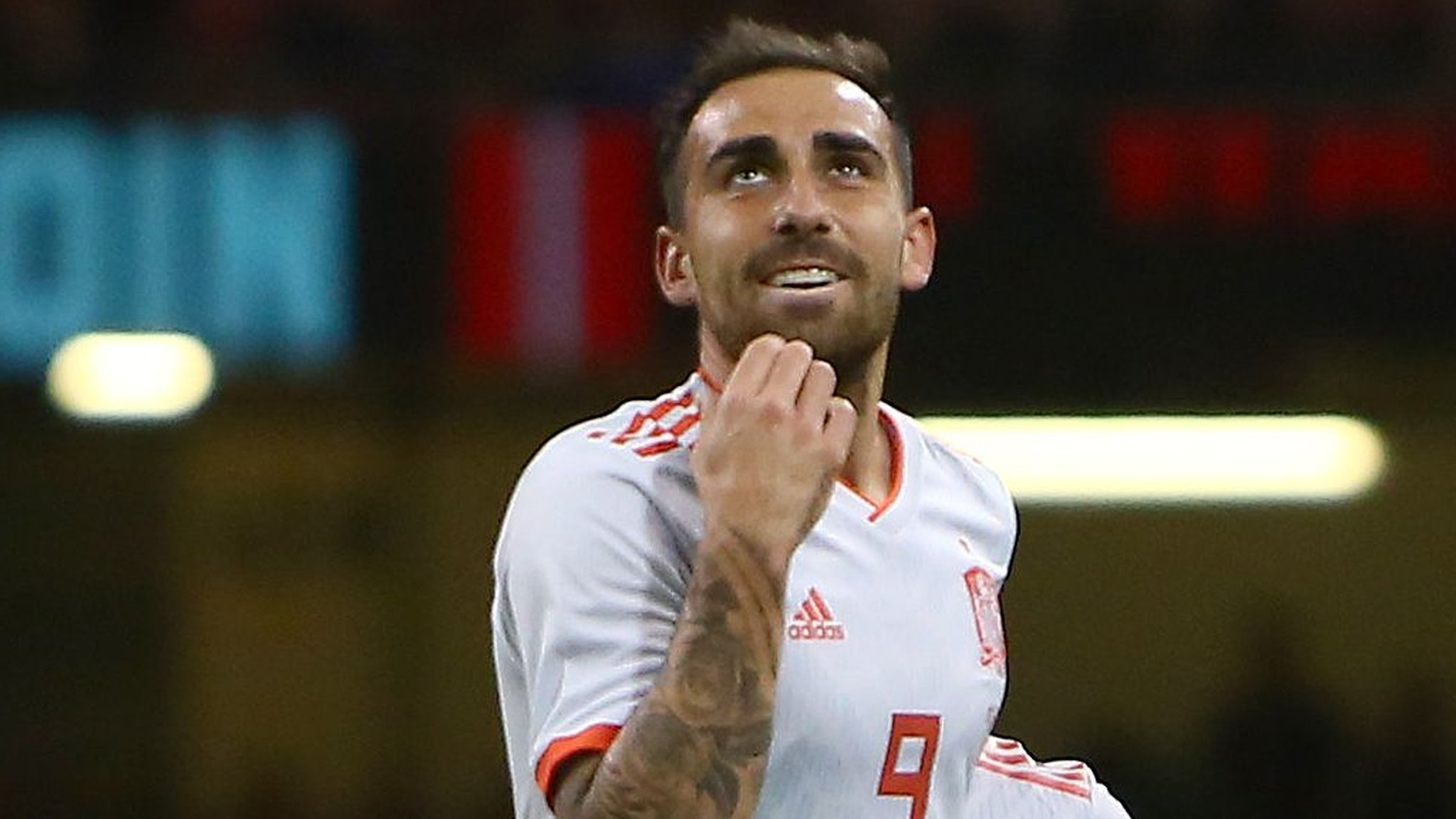 Alcacer scores twice as Spain thump Wales 4-1 on Principality Stadium return