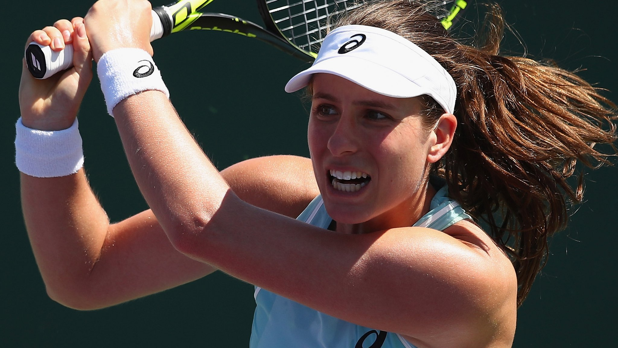 Miami Open: Johanna Konta beats Kirsten Flipkens in second round