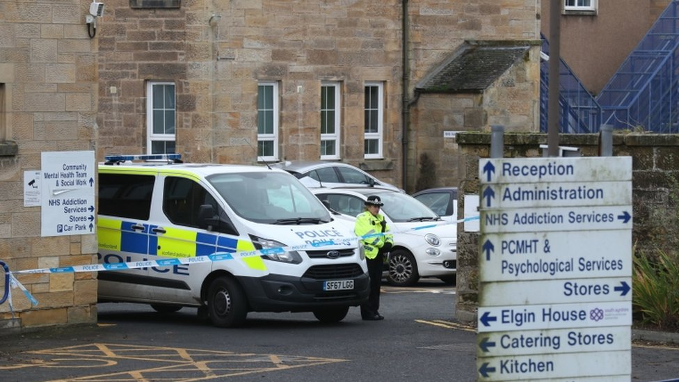 Woman arrested after 'stabbing' at Ailsa Hospital in Ayr