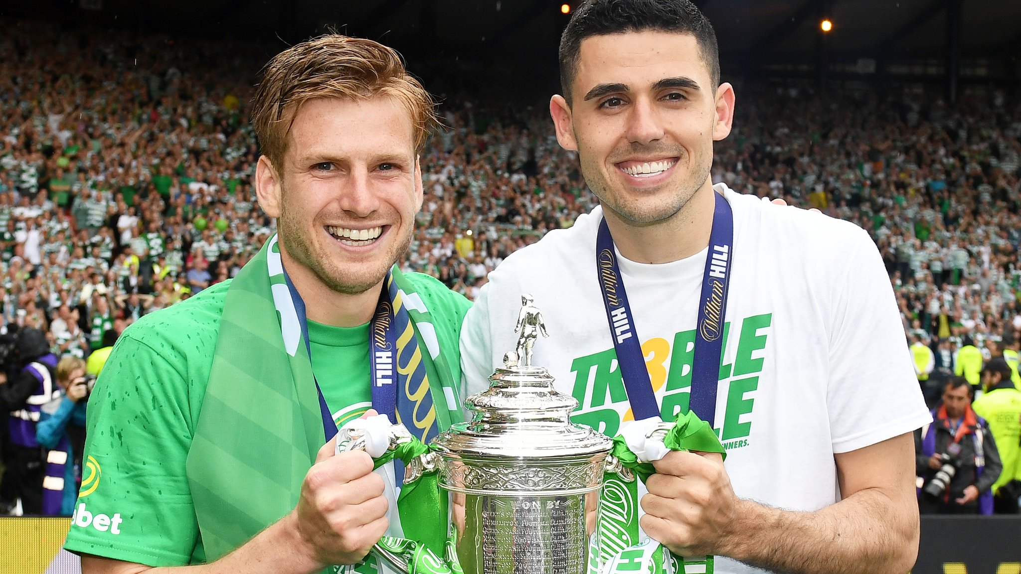 Celtic 2-1 Aberdeen: Brendan Rodgers' side win Scottish Cup and the domestic treble