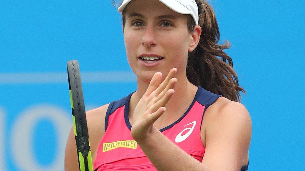 Eastbourne: Johanna Konta breezes past Sorana Cirstea in second round